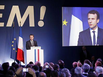 Emmanuel Macron, unabhängiger Kandidat bei den Präsidentschaftswahlen im April, hat sich viel vorgenommen.