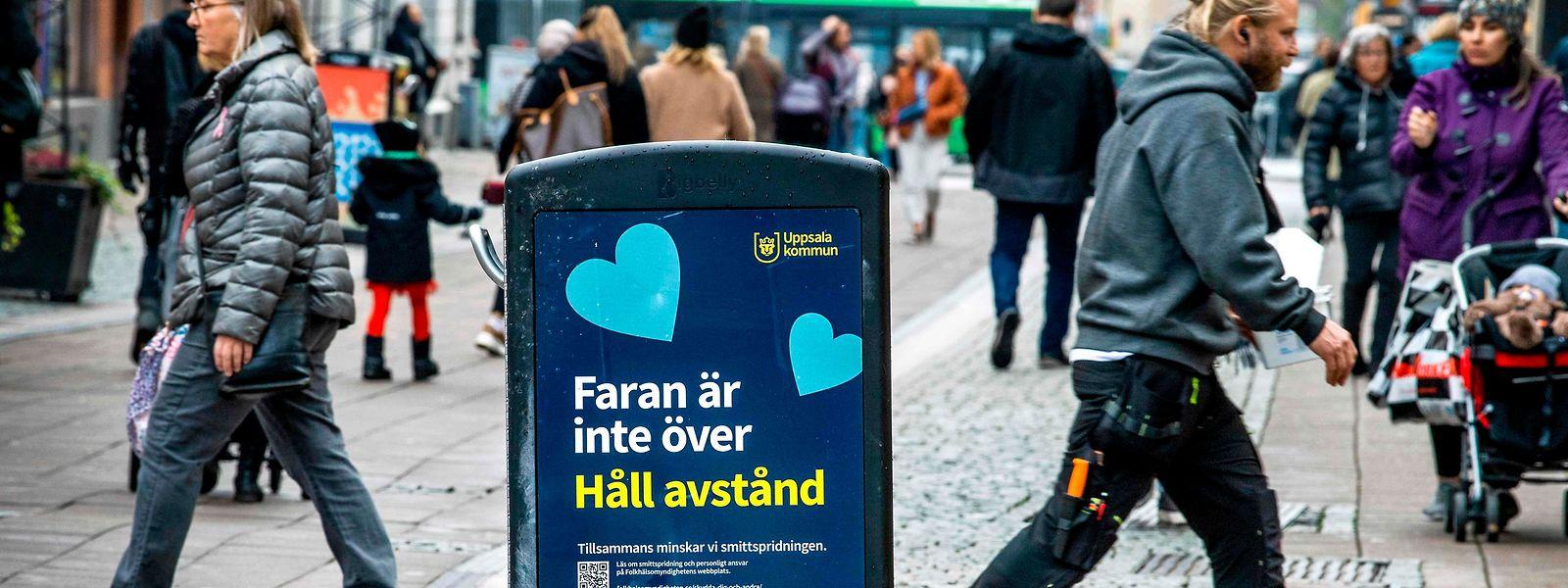 Besonders in der Studentenstadt Uppsala bleiben die schwedischen Behörden wachsam.