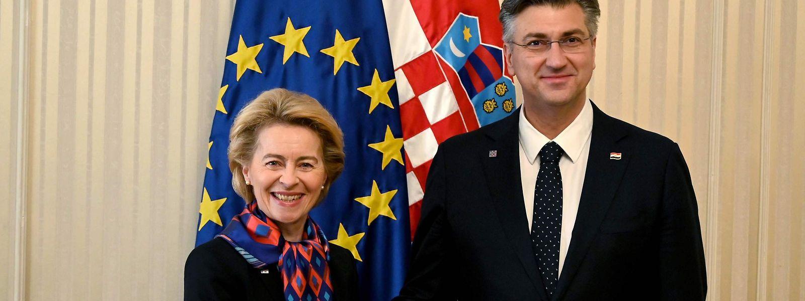 Le 10 janvier, la présidente Ursula von der Leyen était en Croatie, futur pays à diriger les débats de la Commission européenne.