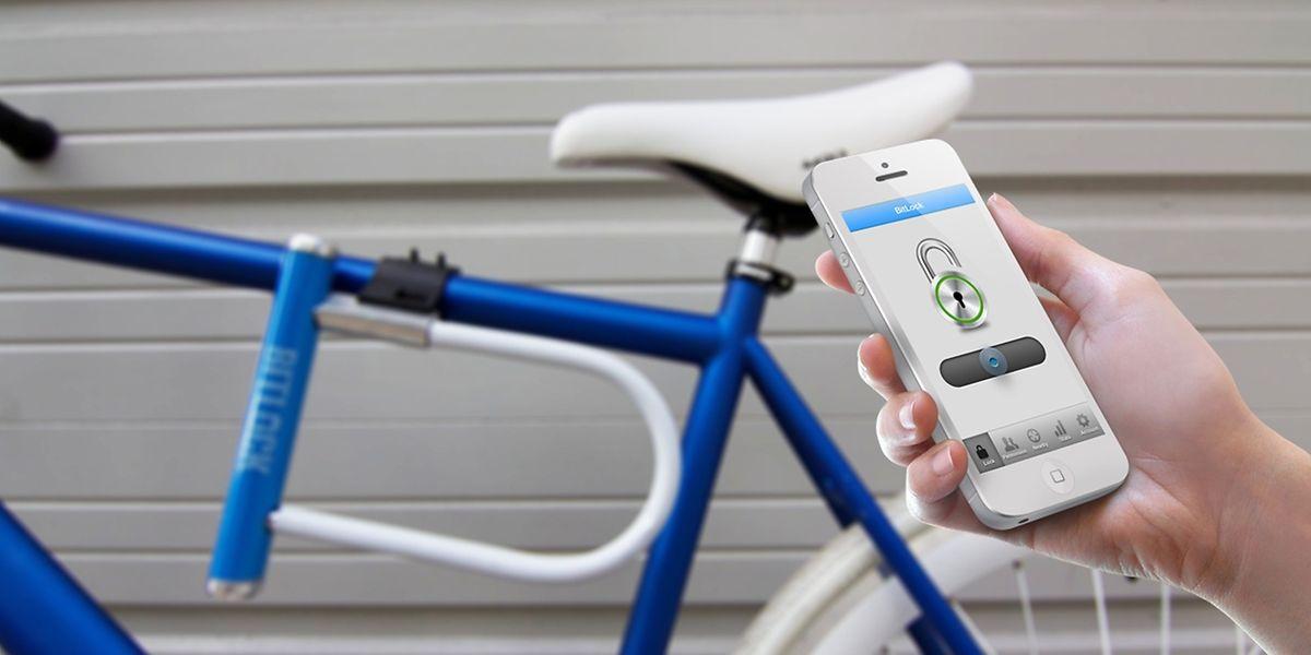 Digitaler Schlüssel: Das Fahrradschloss der Firma BitLock lässt sich mittels einer App öffnen.