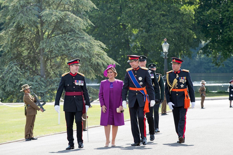 Das großherzogliche Paar bei ihrer Ankunft in Sandhurst.