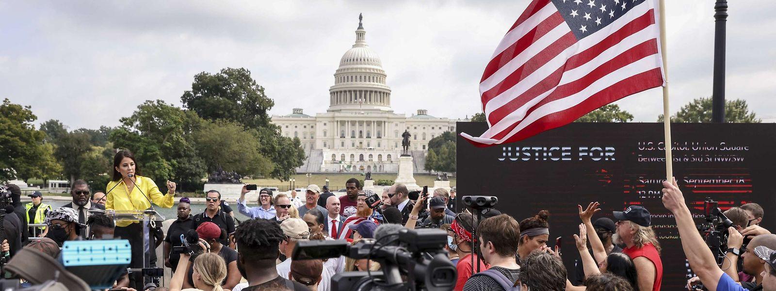 Demonstranten hatten sich am Samstag vor dem Kapitol versammelt.
