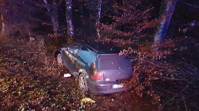 Der Unfallfahrer wurde leicht verletzt.