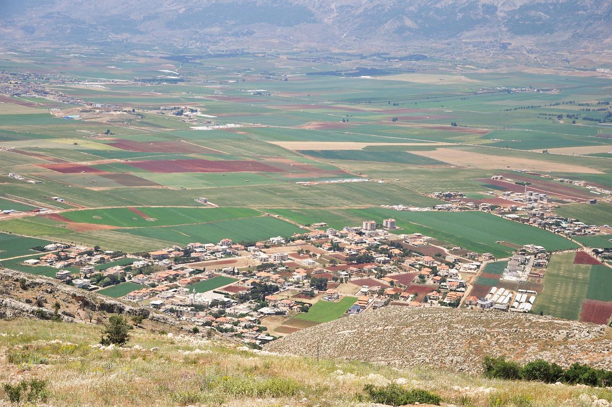 Vista parcial sobre o vale de Baqaa