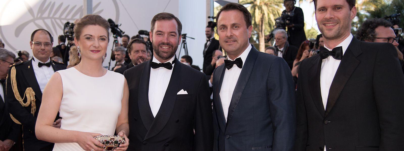 Premierengäste: Prinzessin Stephanie, Erbgroßherzog Guillaume, Premier Xavier Bettel und sein Ehemann Gauthier Destenay.