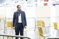 Politik, Visite Impfzentrum Halle Victor Hugo, Luc Feller, Foto: Chris Karaba/Luxemburger Wort
