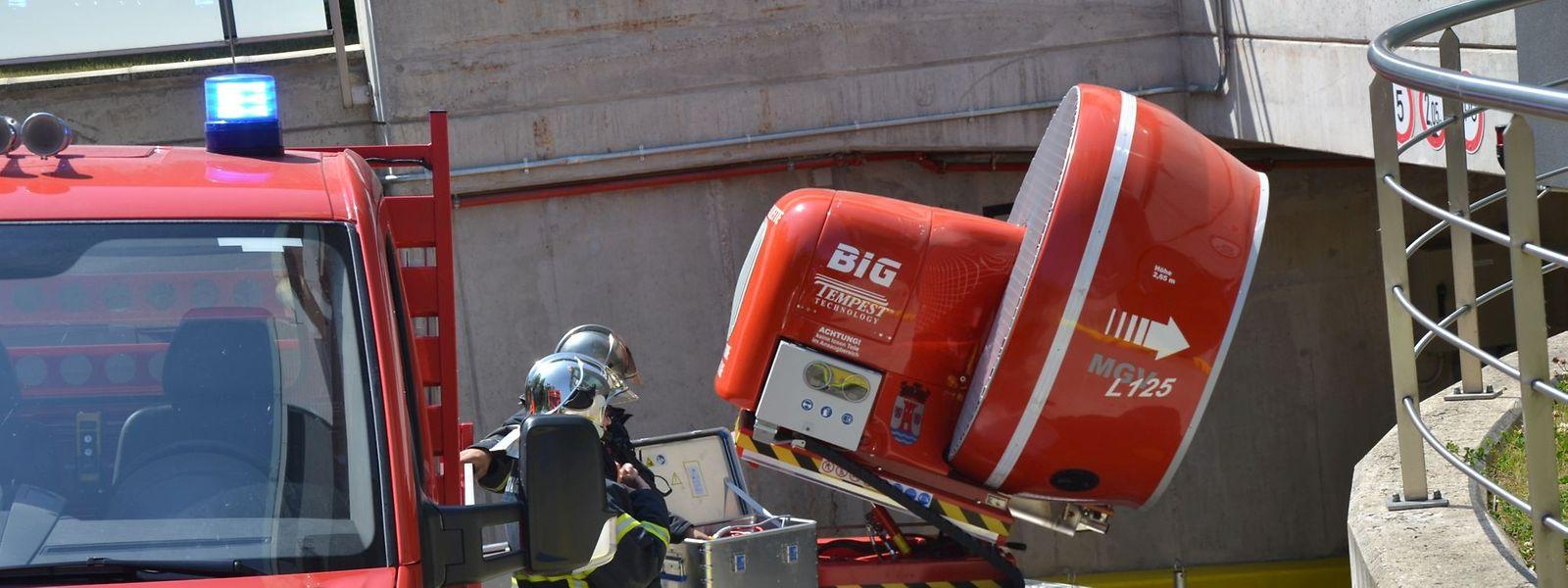 Intervention à Esch-sur-Alzette (buanderie en feu)