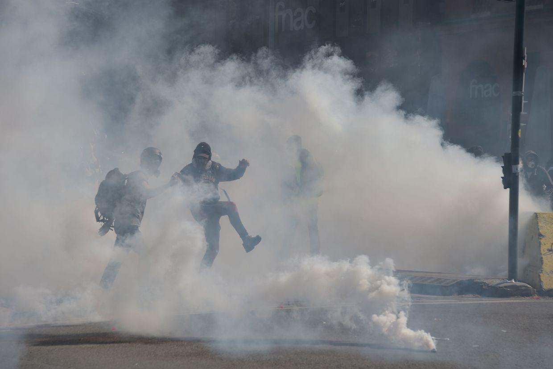 In Toulouse ist es zu Zusammenstößen zwischen Polizei und Demonstranten gekommen.