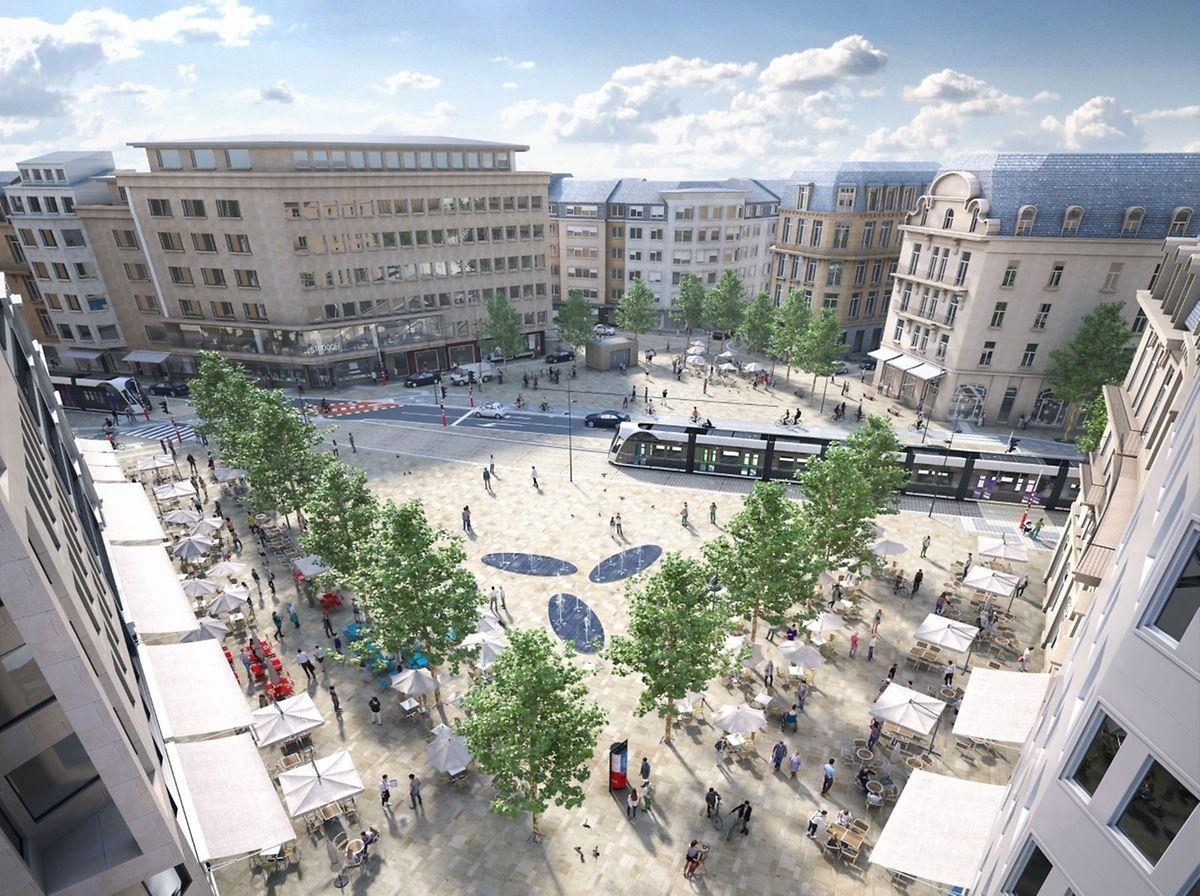 Les travaux place de Paris se poursuivront cet été. Sachant que tous les arbres seront, eux, plantés cet automne pour une fin de chantier au second semestre 2021.