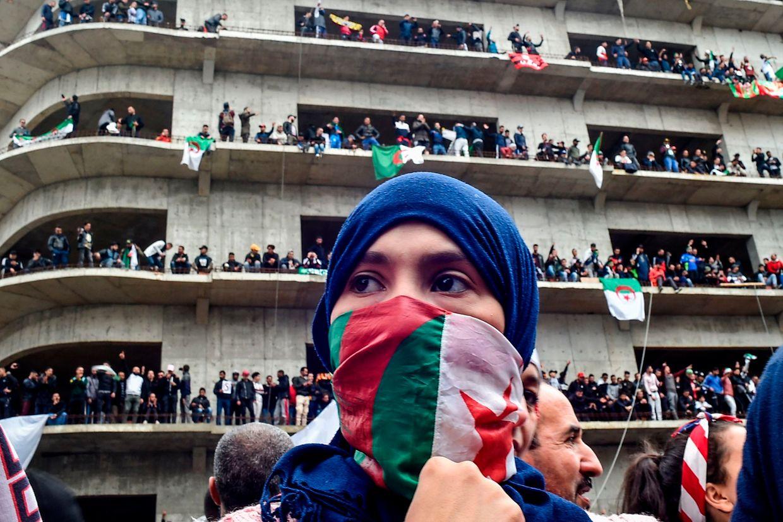 Straßenproteste in Algerien.