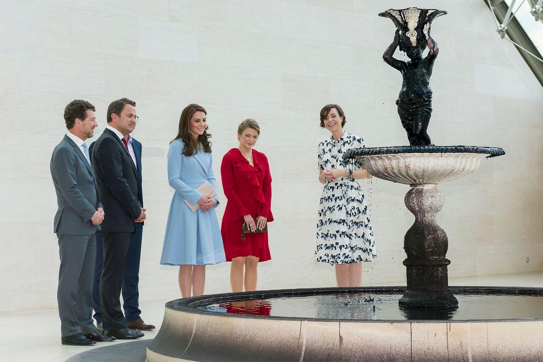 Kunst im Mudam zum Auftakt des sechsstündigen Besuchs der Herzogin Kate von Cambridge.