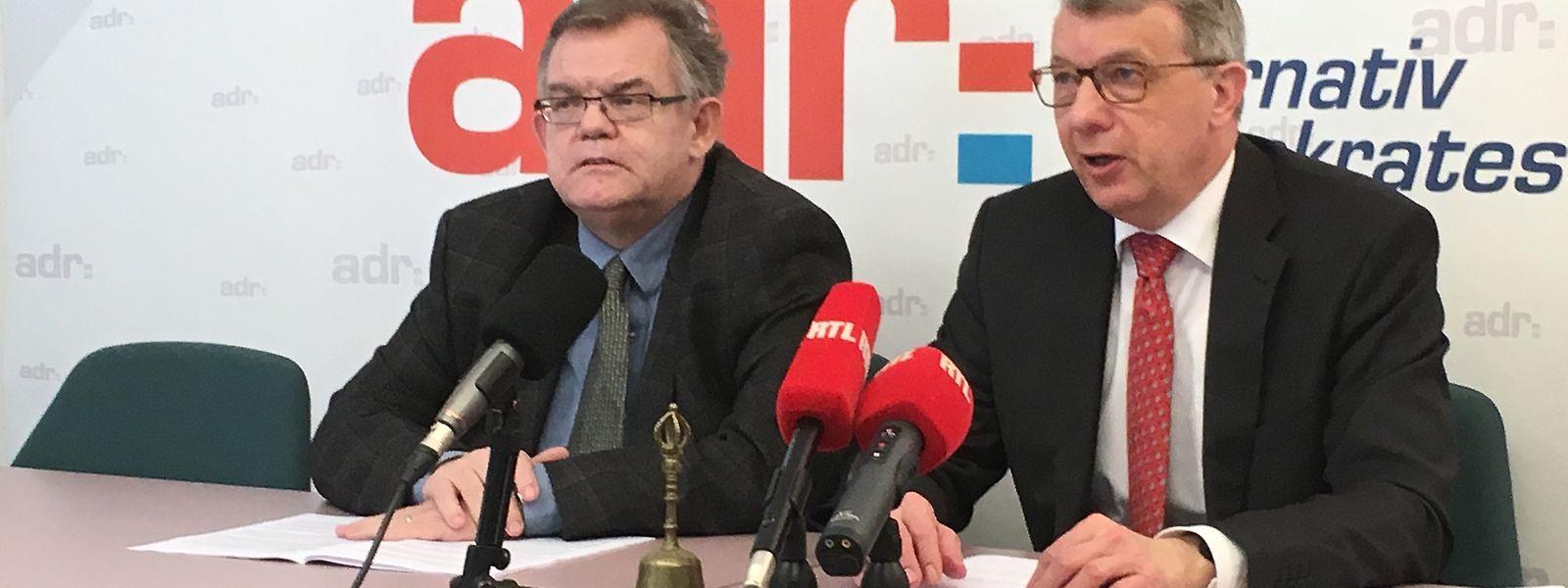 Fernand Kartheiser (rechts) trat am Freitag erstmals gemeinsam mit dem neuen ADR-Mitglied Lucien Welter auf.