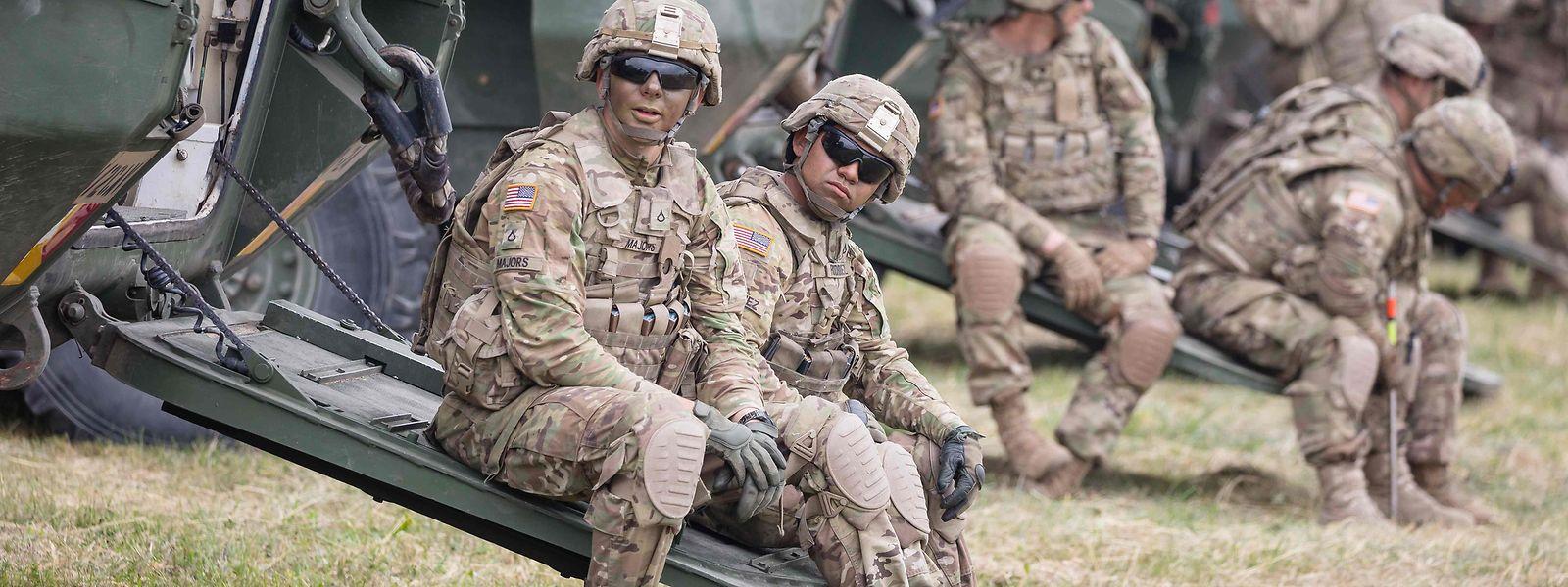 US-Soldaten während einer Übung in Polen.