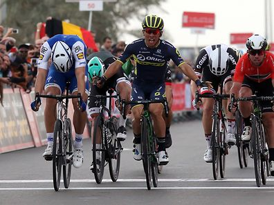 The Nation Towers  stage of 153 km  second stage of the Abu Dhabi Tour cycling race, 24 February 2017. The Abu Dhabi tour runs from 23-26 February   The Abu Dhabi tour runs from 23 to 26 of February   2017. 