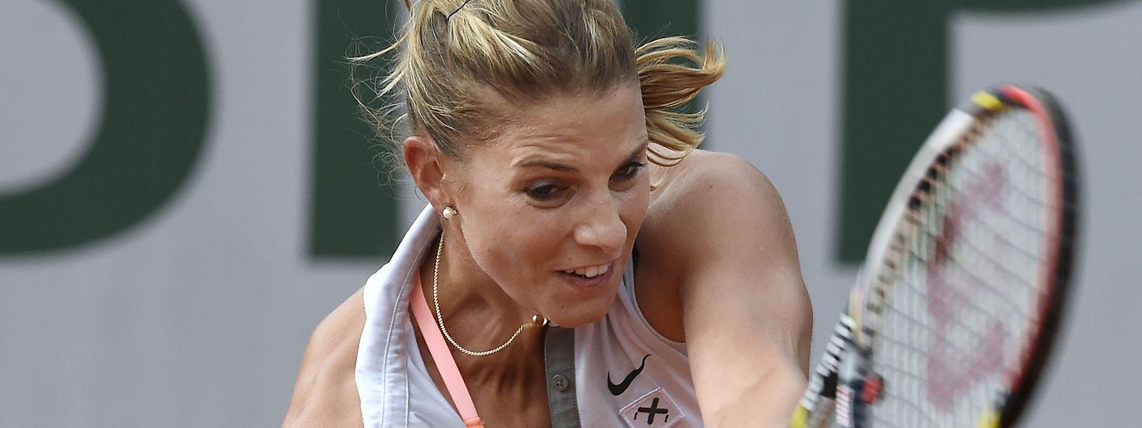Mandy Minella bewies im dritten Durchgang Nerven.