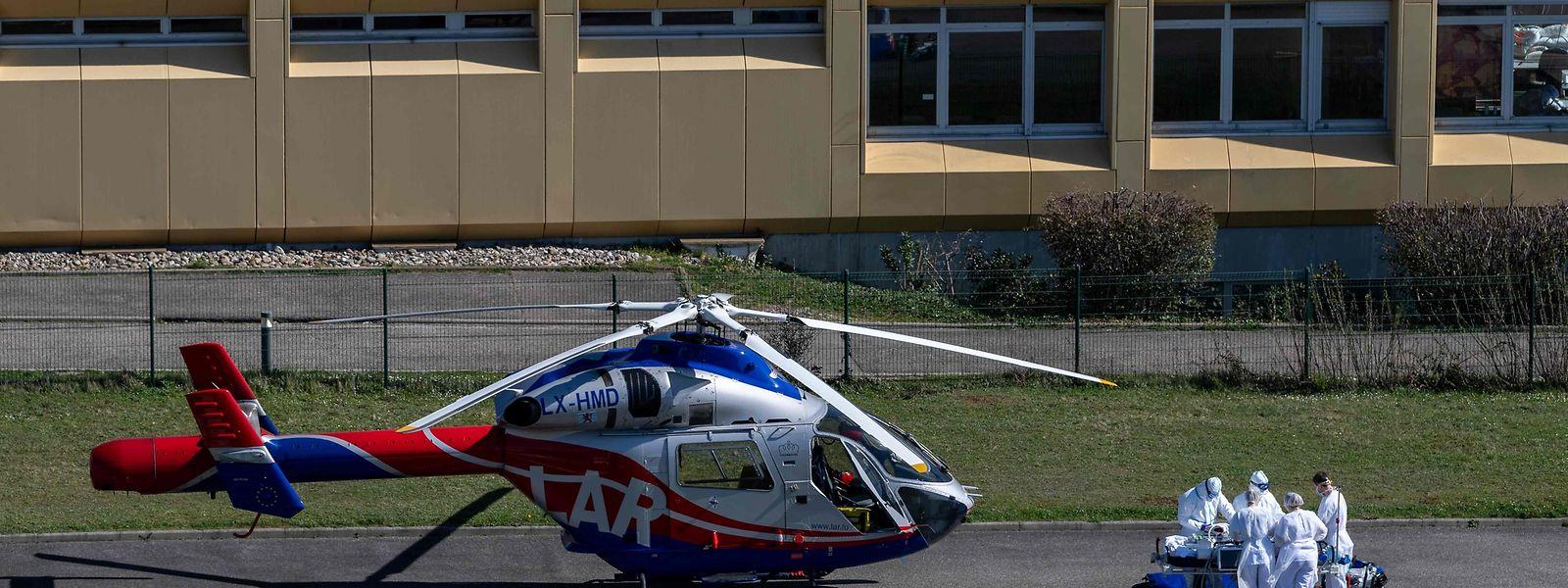 Die Patienten aus Frankreich wurden mit den Rettungshubschraubern der Air Rescue eingeflogen.