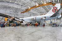 Cargolux. 100th C-Check, Cargolux Maintenance Center Sandweiler. Photo: Guy Wolff
