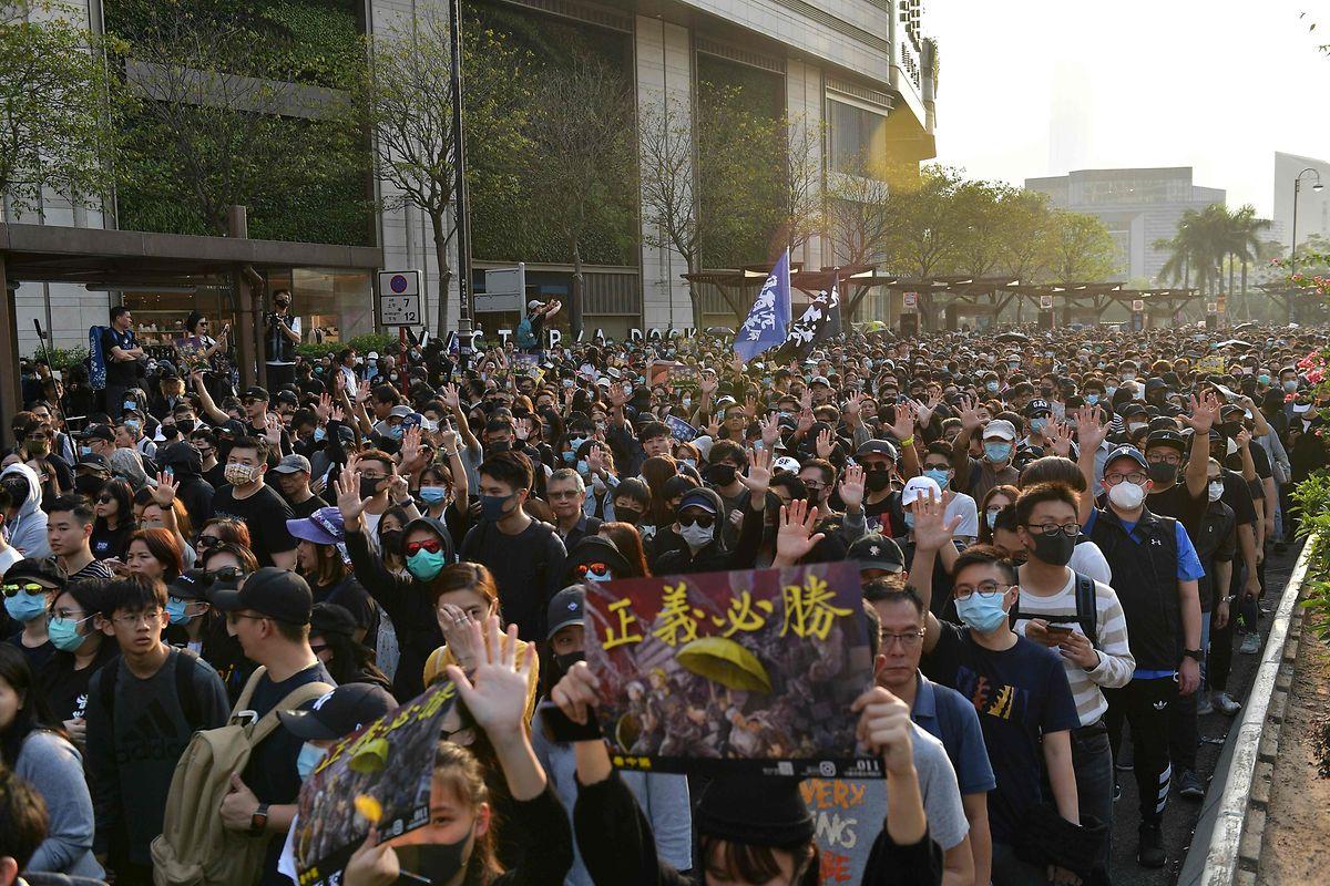 Der Protestmarsch begann einmal mehr in der Nähe der polytechnischen Hochschule.