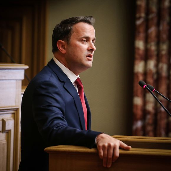 Xavier Bettel making his 2016 State of the Nation address in the Chamber of Deputies