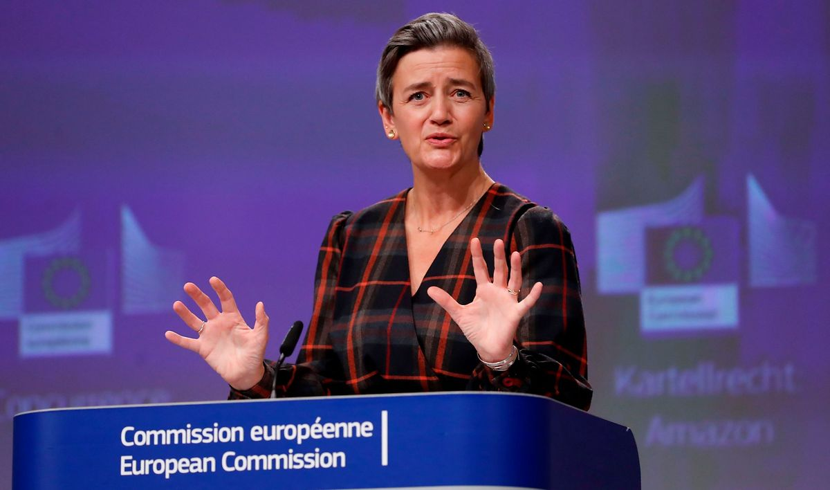 """EU Competition Commissioner Margrethe Vestager has said the Commission will """"reflect on possible next steps"""" in the Amazon case"""