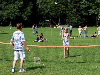 Kinder spielen im Stadpark,Sommer,Ferien. Foto:Gerry Huberty