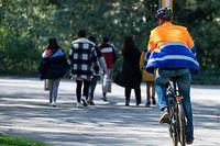 Lokales, Konflikt zwischen Radfahrer und Fussgänger, mobiliteit, Mobilität, Vélo, Fahrrad, Fußgänger, piéton, Foto: Chris Karaba/Luxemburger Wort