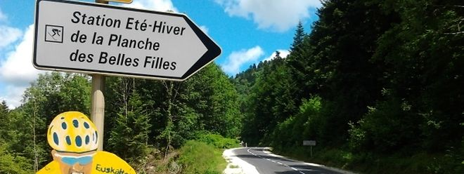 La Planche des Belles Filles, lieu d'arrivée de la cinquième étape, mercredi