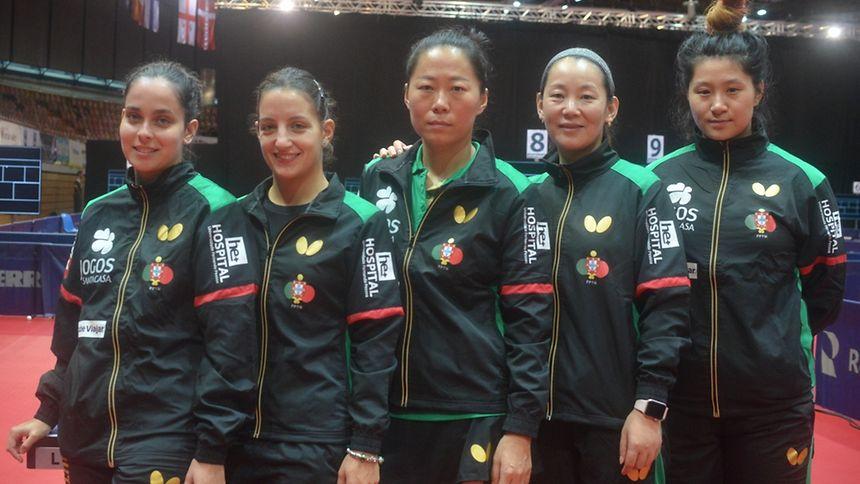 A seleção portuguesa entrou com o pé direito no Europeu de ténis de mesa