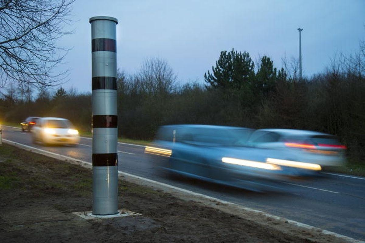 Le radar entre Mersch et Roost. La très grande majorité des automobilistes flashés écopent d'une amende de 49 euros, qu'ils règlent généralement vite.