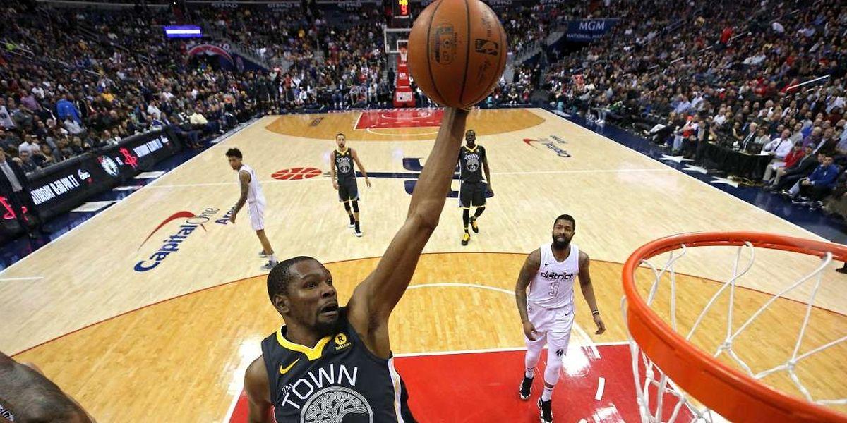 Auteur de 32 points, Kevin Durant n'a pas manqué son retour à Washington.