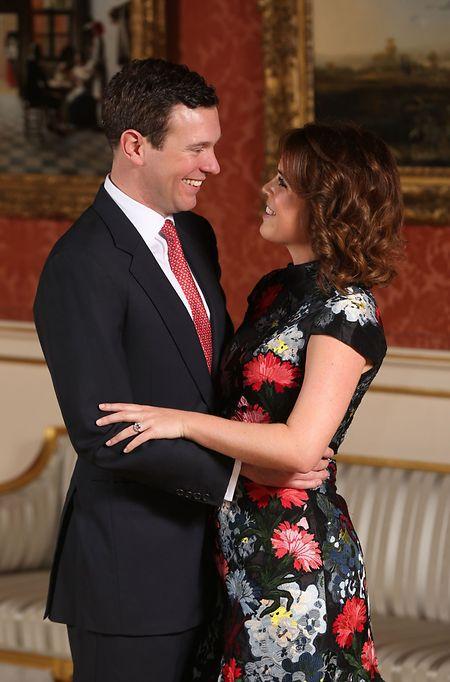 Die britische Prinzessin Eugenie und Jack Brooksbank nach Bekanntgabe ihrer Verlobung.