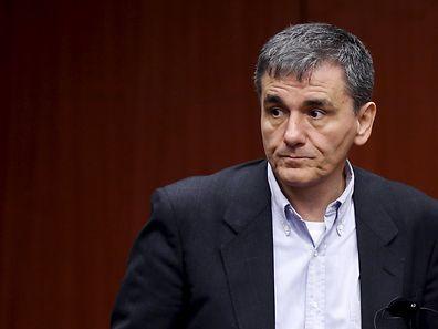 Hoher Besuch: Griechenlands Finanzminister Efklidis Tsakalotos spricht in Kirchberg.