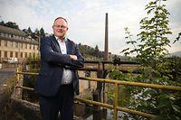 Sommerinterview Romain Schneider, Minister Landwirtschaft, Weinbau, soziale Sicherheit, Wiltz, Terrain Fonds du Logement, Haargarten, Wiltz, Foto: Guy Wolff/Luxemburger Wort