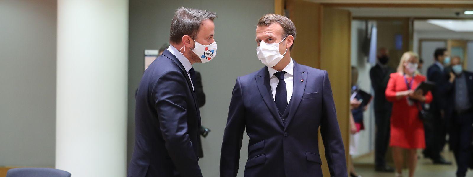 Bettel und Macron bei einem EU-Gipfel im Juli in Brüssel.