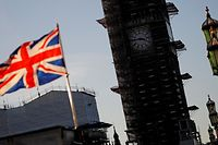 A Union flag flies from a pole near the Elizabeth Tower, commonly known as Big Ben, at the Houses of Parliamnet in central London on January 28, 2019. - Despite the humiliating rejection of Prime Minister Theresa May's Brexit deal, Britain is no closer to knowing the end result of its vote to leave the European Union. A raft of amendments to be voted on by MPs on Tuesday threaten to further muddy the waters as the clock ticks down to Britain's scheduled departure from the EU on March 29. (Photo by Tolga AKMEN / AFP)