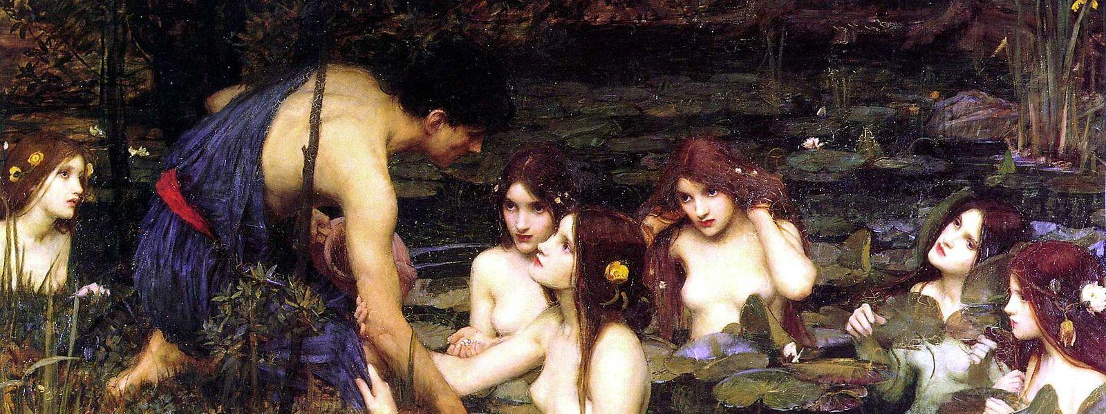 """Die Nymphen sind der Tod des jungen Mannes - eine Darstellung, die Kuratorin Clare Gannaway """"herausfordern"""" will."""