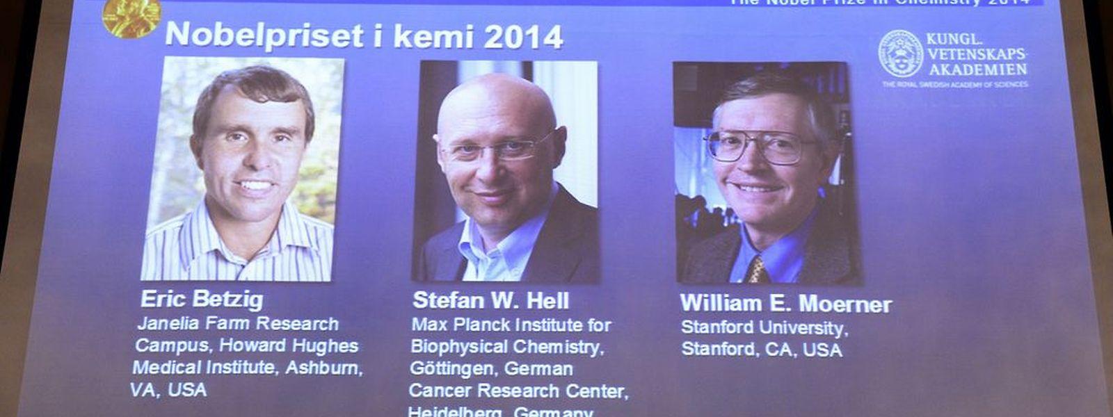 Die Gewinner des Chemie-Nobelpreises 2014