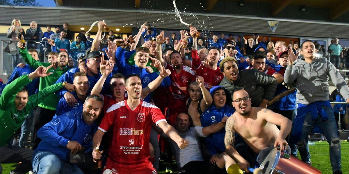 La joie du Sporting Mertzig qui conserve sa place en Division 1.