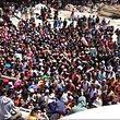 Des centaines de personnes attendaient de quitter Gili Trawangan lundi matin, au nord de l'île voisine de Lombok, au lendemain du séisme.