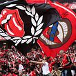 Benfica's supporters celebrating during their Portuguese First League soccer match against Vitoria de Guimaraes played at Luz stadium in Lisbon, Portugal, 13th May 2017. TIAGO PETINGA/LUSA
