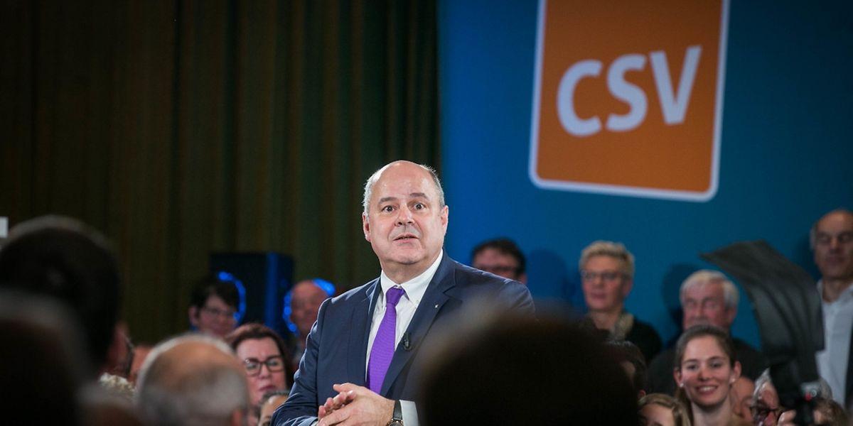 CSV-Parteipräsident Marc Spautz auf dem Neujahrsempfang der Partei.