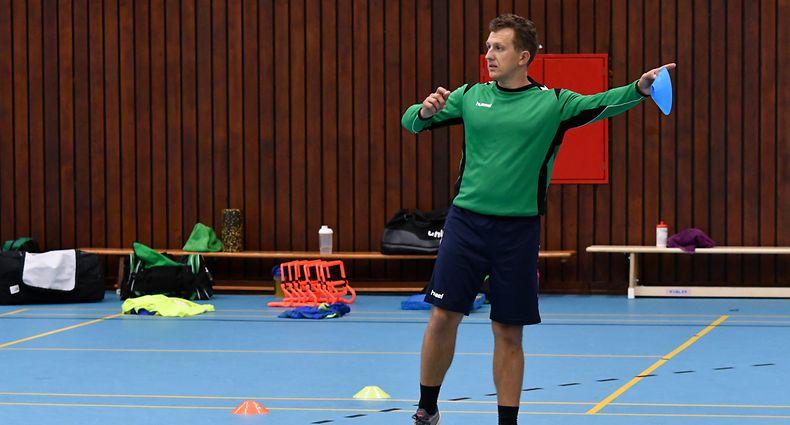 Alex Kuhfeldt, entraîneur HBC Schifflange. Handball: Entraînement HBC Schifflange. Centre sportif, Schifflange. Foto: Stéphane Guillaume