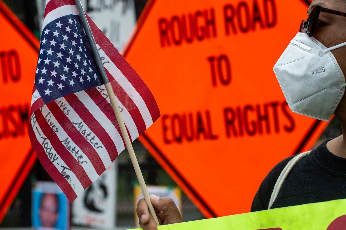 Proteste in der Nähe des Weißen Hauses in Washington.
