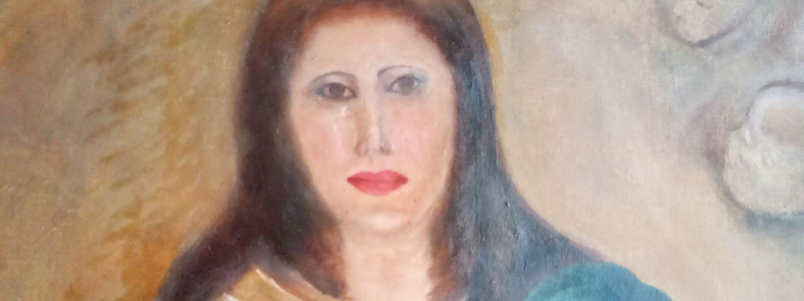 Das Bildnis wurde von einem Restaurator bis zur Unkenntlichkeit verunstaltet.