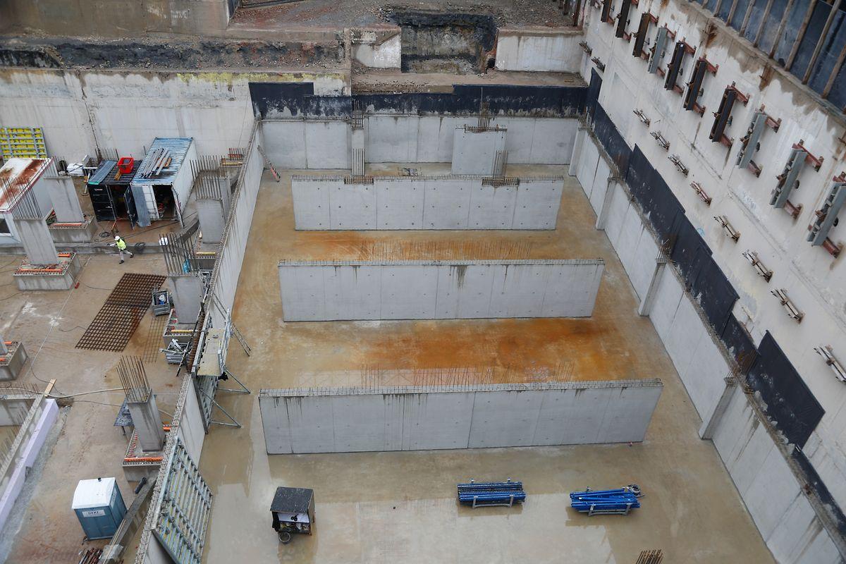 Ein Jahr dauerten die Abrissarbeiten des alten Centre Postal. Für den Neubau sind die Fundamente gelegt.