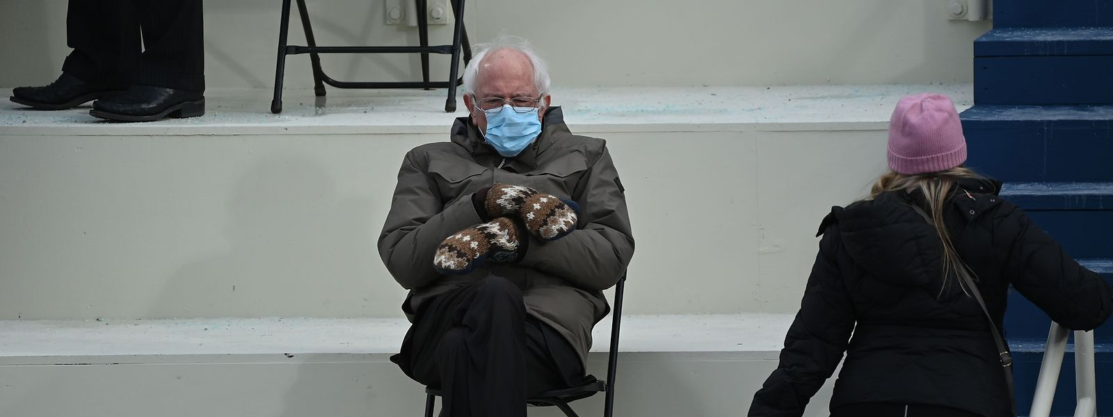 Bernie Sanders am Mittwoch bei der Amtseinweihung von Joe Biden.