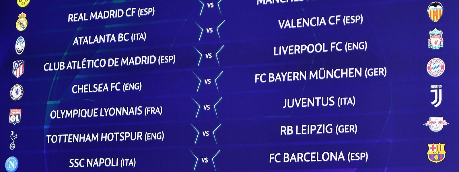Chelsera défiera le Bayern en huitièmes. Un remake de la finale de 2012 perdue par les Bavarois.