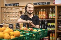 WI,Ouni- Geschäft ohne Verpackung. Joshua Streitz. Foto: Gerry Huberty/Luxemburger Wort