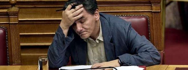 """Euclide Tsakalotos, nouveau ministre des Finances: """"Lundi matin à 9 h 30 (moment de la signature, ndlr) fut le pire moment de ma vie""""."""