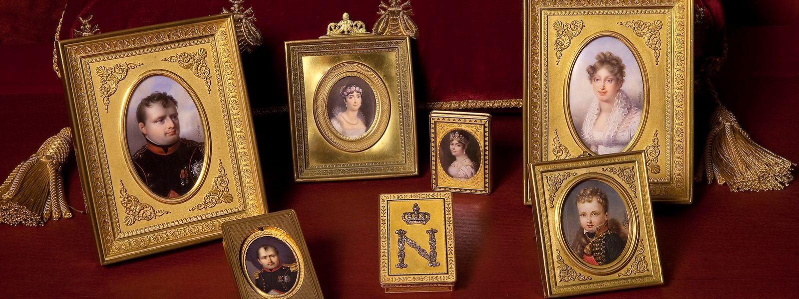 Napoleon ließ sich selbst vielfach porträtieren und nahm auch Familienporträts mit auf Reisen.